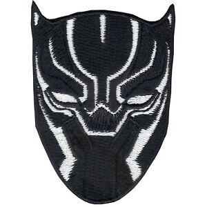 Details about Marvel Avenger BLACK PANTHER White Mask Iron On logo Patch  Wakanda Okoye DVD.