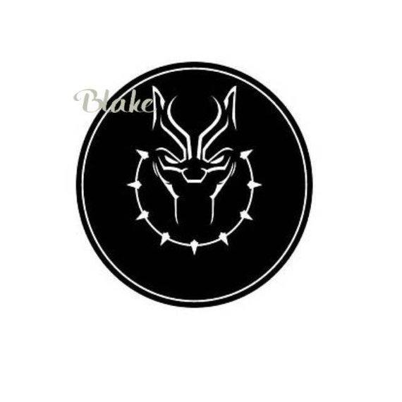 Black Panther SVG Black panther logo symbol necklace wakanda movie.