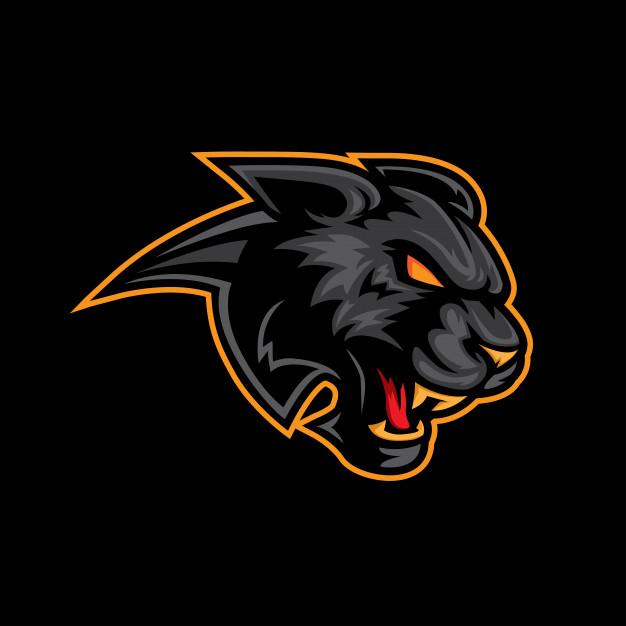 Black panther logo mascot Vector.