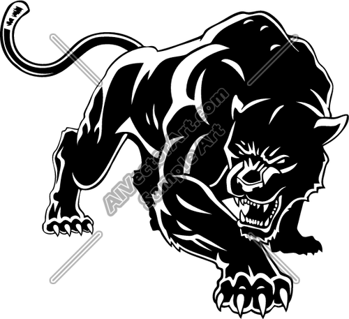 Panther Mascot Clipart.