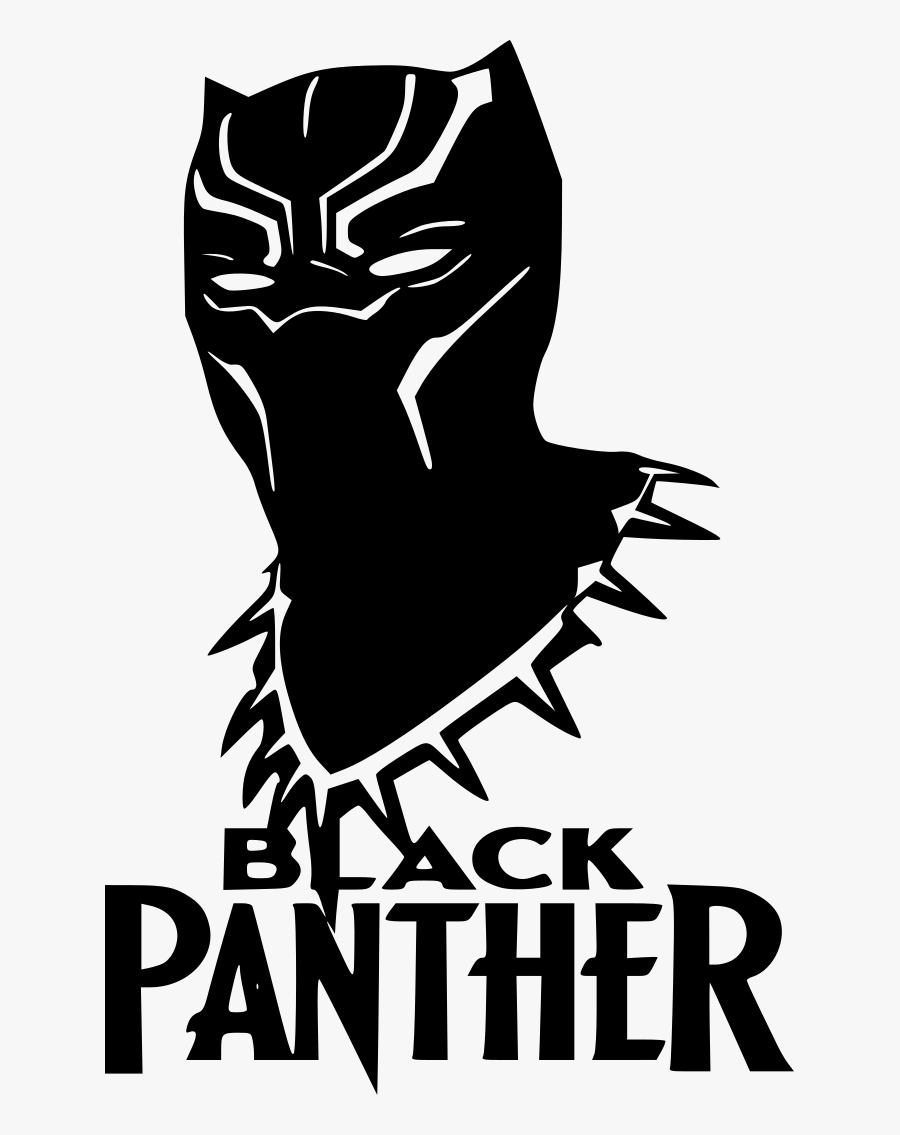 Marvel Black Panther Mask Decal In.