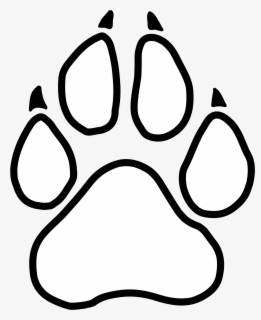 Free Panther Paw Clip Art with No Background.