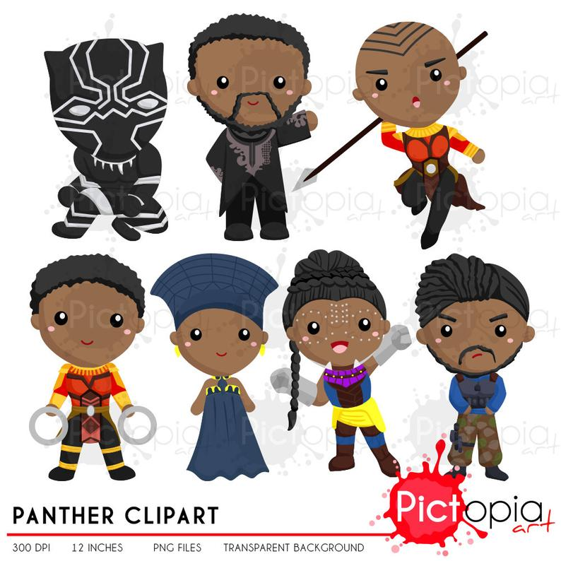 Panther solid color Clipart, Panther Clip Art, Black Panther png, superhero  clipart , hero clip art INSTANT DOWNLOAD.