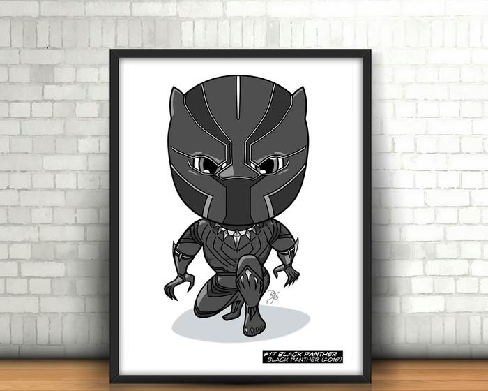 Marvel Cute Black Panther Original DIGITAL Art Black Panther.