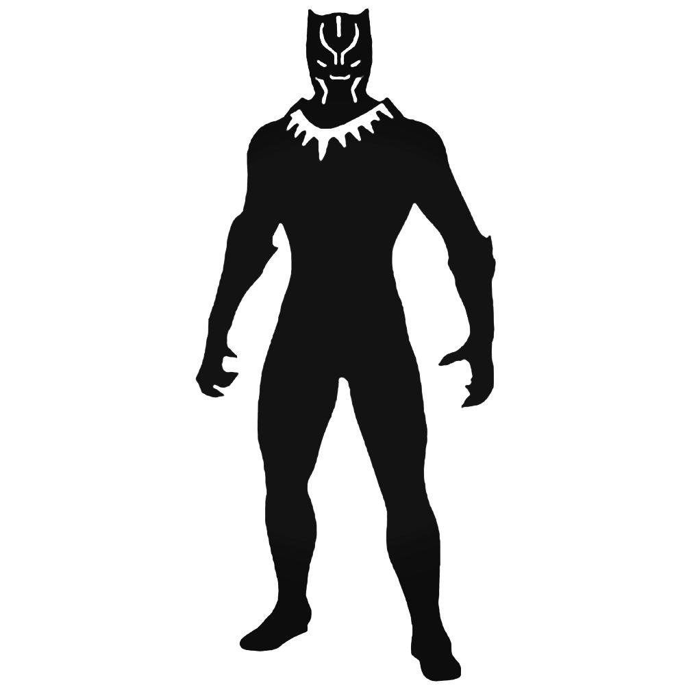 Black Panther Superhero Silhouette.