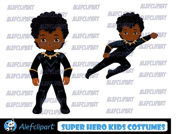 Superhero Clip Art, Hero Png, Black Panther Clipart, Africa Clipart..