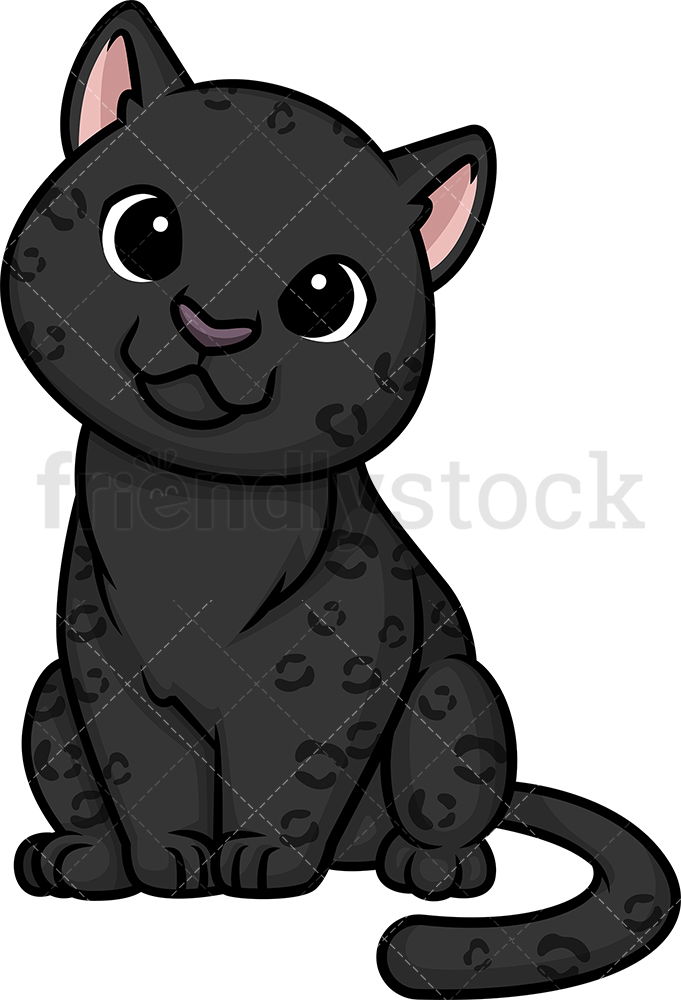 Chibi Kawaii Black Panther.