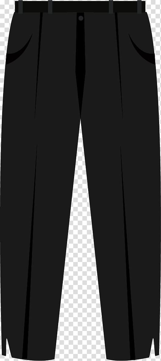 Black White Trousers, Pants suit transparent background PNG.