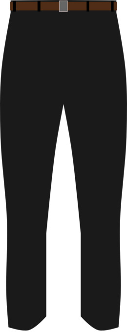 Pants Black png download.