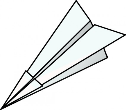 Paper airplane outline vector free Free vector for free.