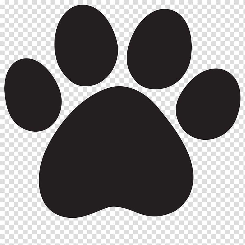 Black paw logo, Lion Cougar Dog Cat , Paw Print transparent.