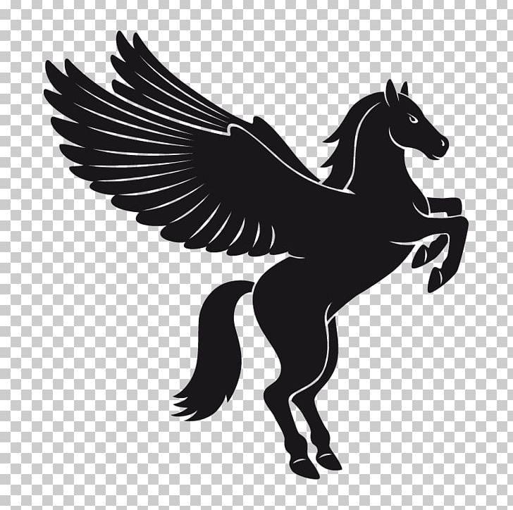 Pegasus Flying Horses PNG, Clipart, Art, Black And White.