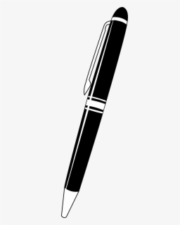 Free Pen Black And White Clip Art with No Background.