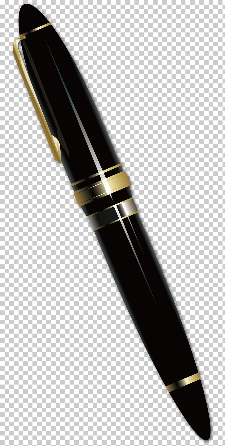 Ballpoint pen Fountain pen, black pen PNG clipart.