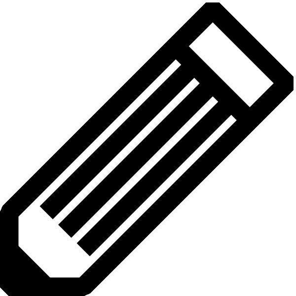 Black And White Pencil clip art Free Vector / 4Vector.