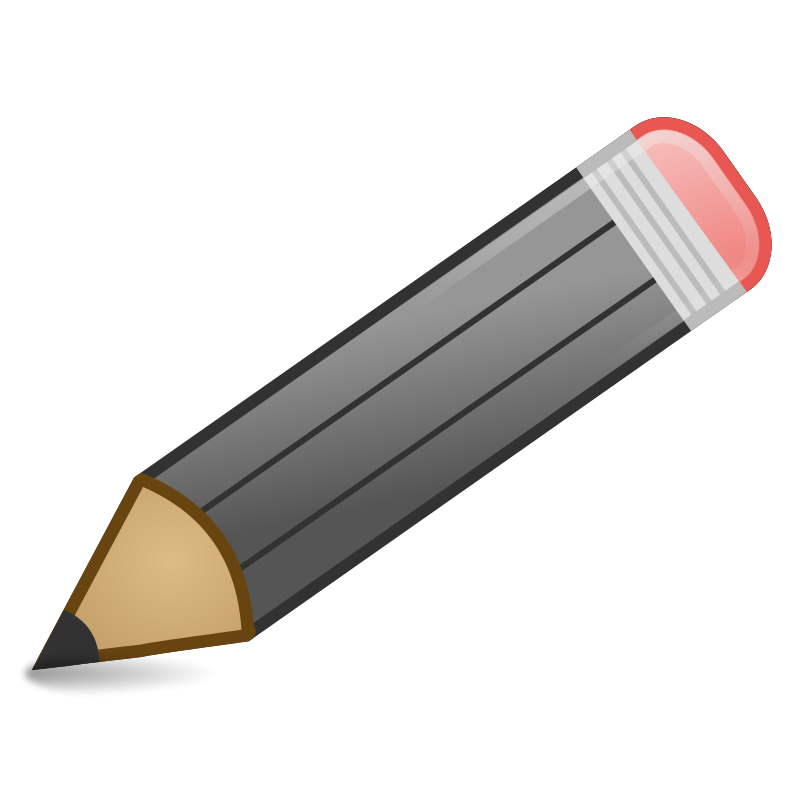 Black pencil clipart.