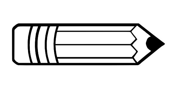 Pencil Clip Art Black And White.