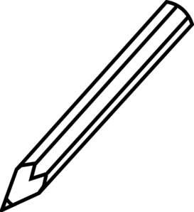 Pencil Clip Art Black And White.