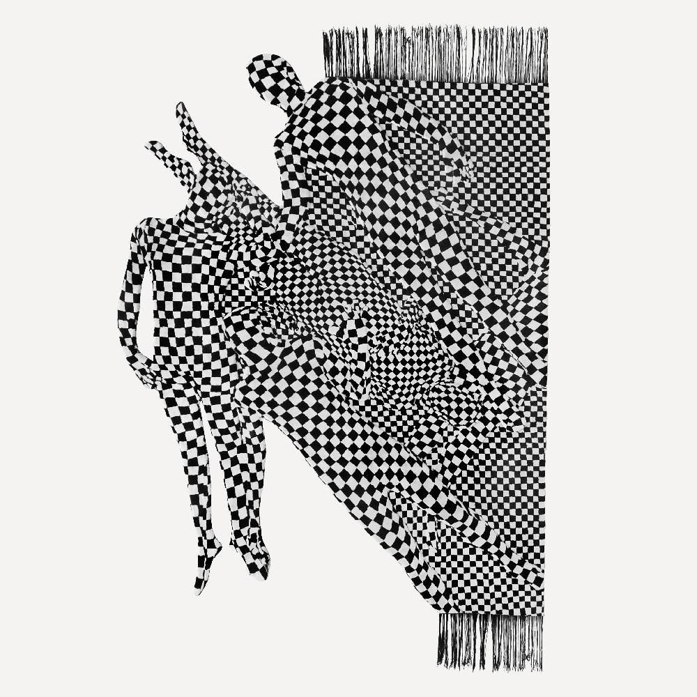 OLAF BREUNINGBLACK AND WHITE PEOPLE PATTERN, 2017.