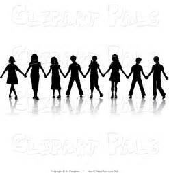Similiar People Holding Hands In A Black And White Line Keywords.