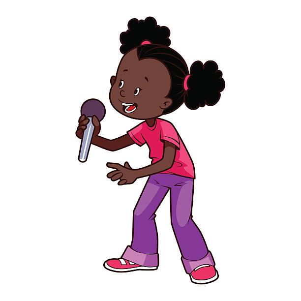 Black People Singing Clip Art, Vector Images & Illustrations.