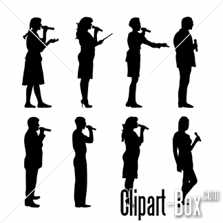 Clipart People Singing.