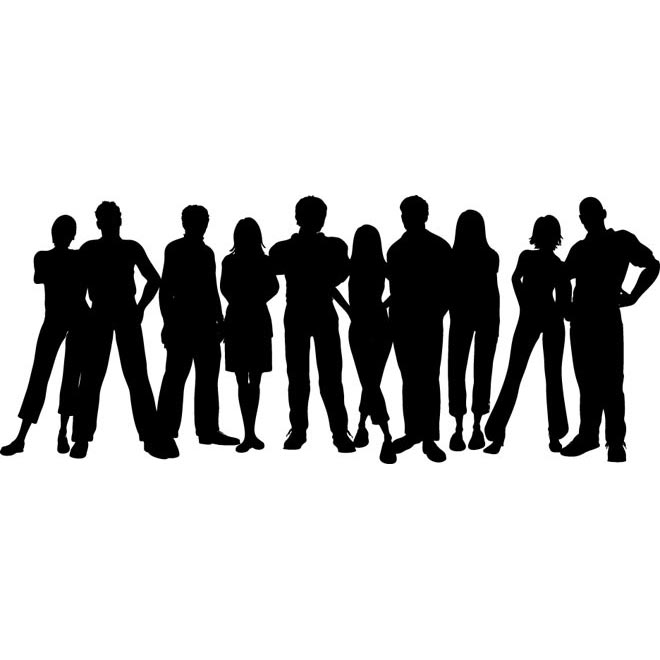 Group Of People Standing Clipart.