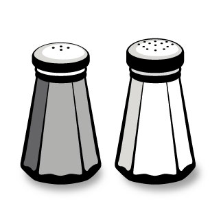 Salt And Pepper Shaker Clipart.