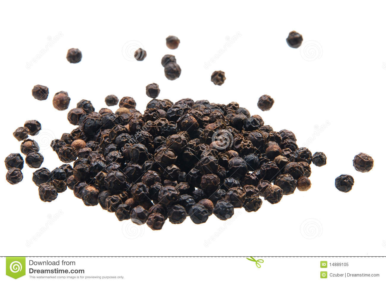 Black Peppercorn Royalty Free Stock Photo.