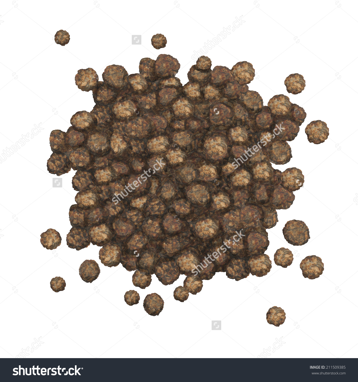 Ground pepper in water clipart.