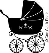Black perambulator clipart #20