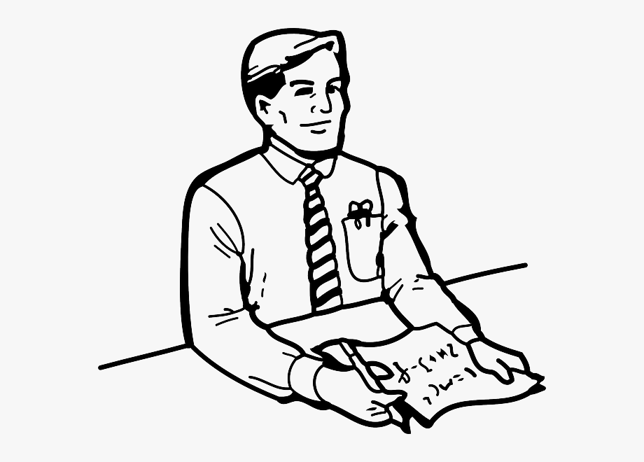 Clipart Outline Of Person.