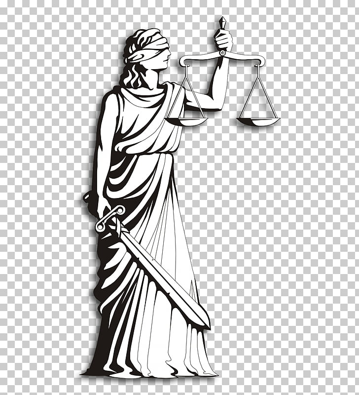 Lady Justice Symbol Measuring Scales Court, linha do tempo.