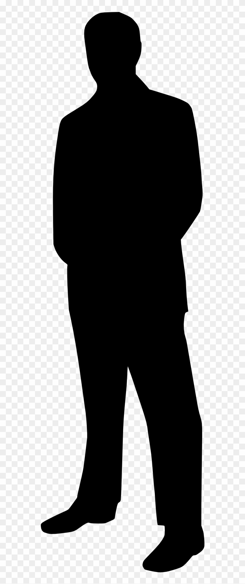 Business Man Tie Suit Black White Silhouette.