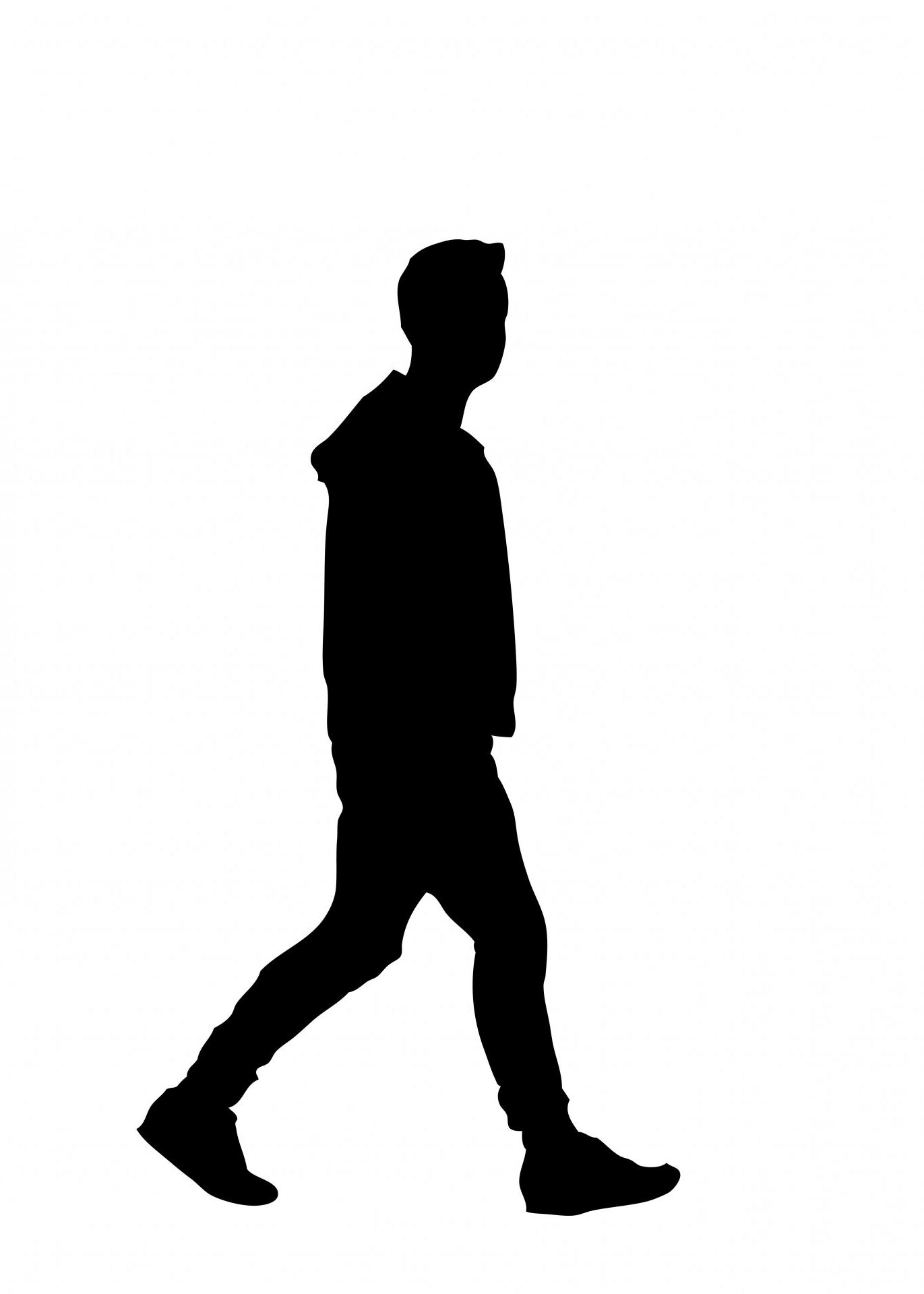 Black person walking head clipart clipart images gallery for.