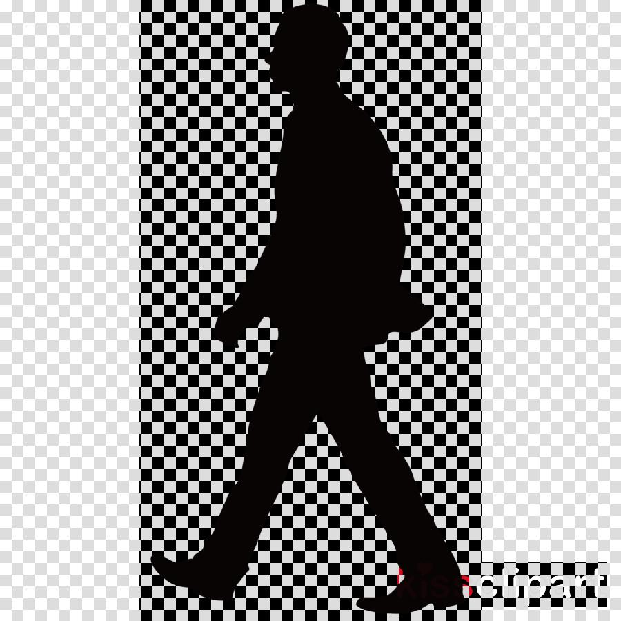 silhouette standing black.