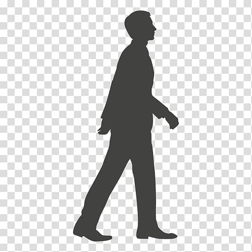 Silhouette male , Silhouette Walk cycle, walking transparent.