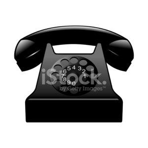 Old Black Phone premium clipart.
