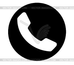Black Phone Icon.