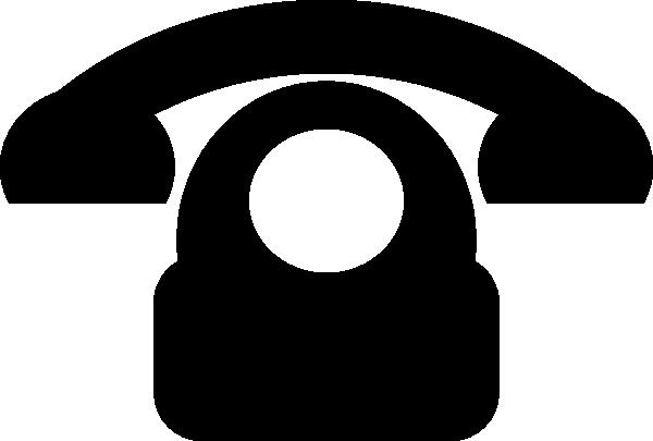 Black Phone Icon Clip Art at Clker.com.