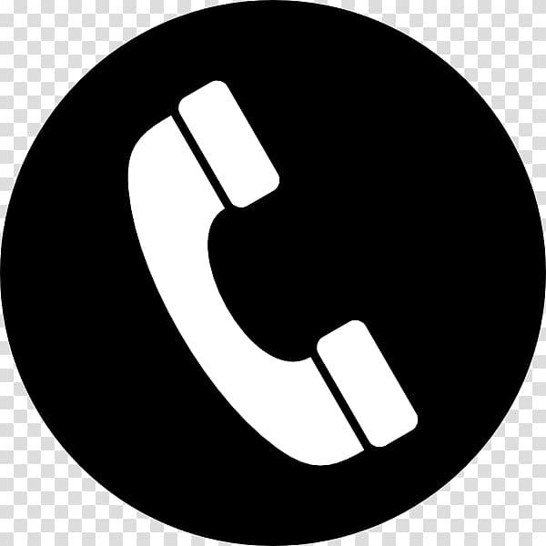 White telephone illustration, Phone Icon In A Circle.