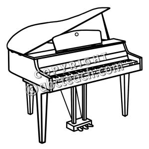 Piano Clip Art Black And White.