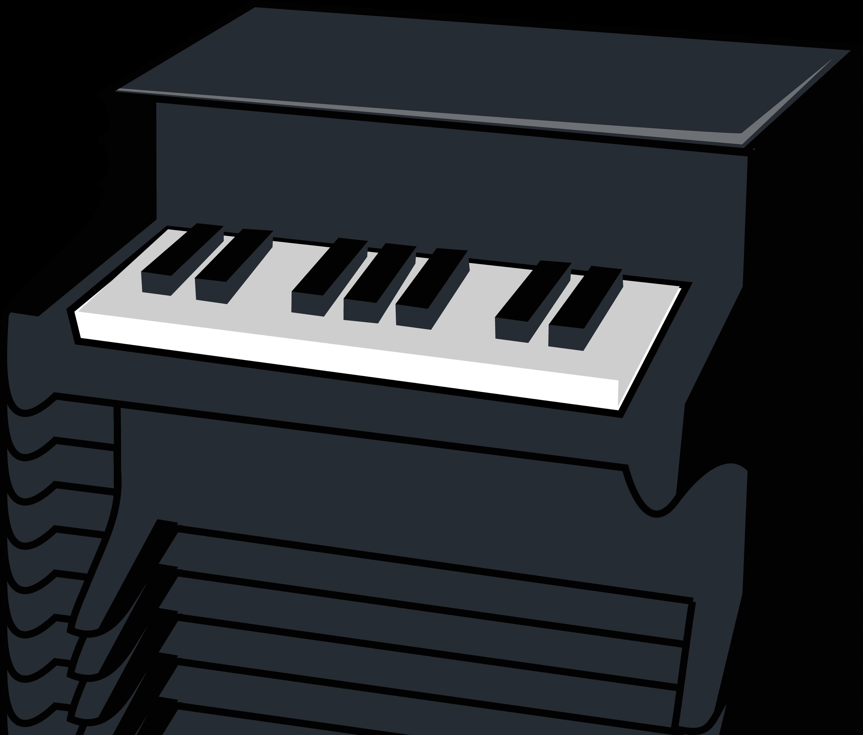 Piano Clipart Black And White.
