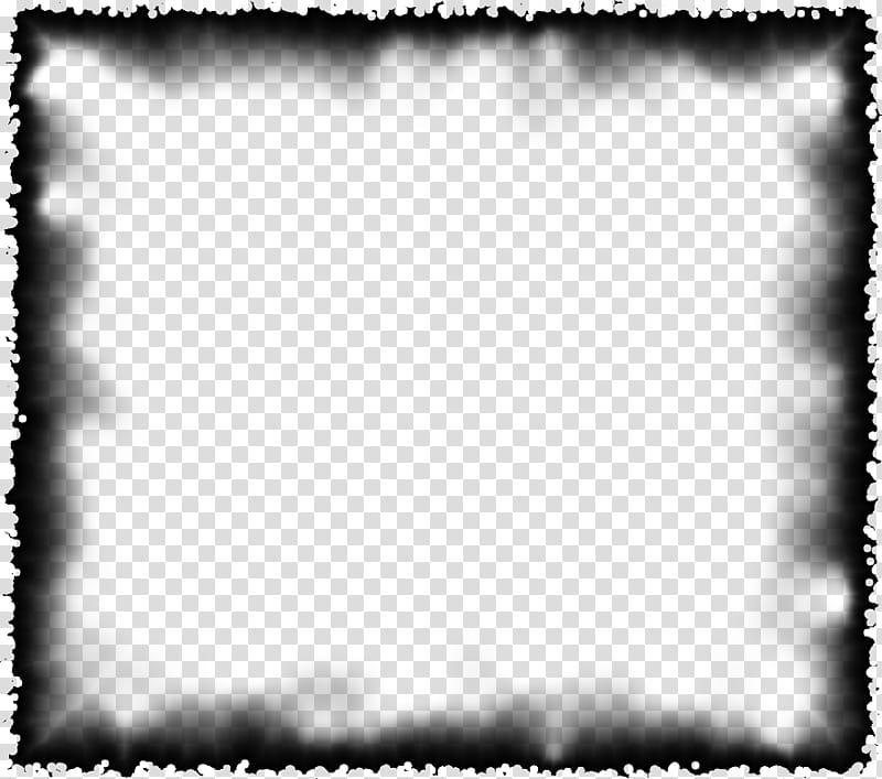 Burned Edges I black frame background transparent background.