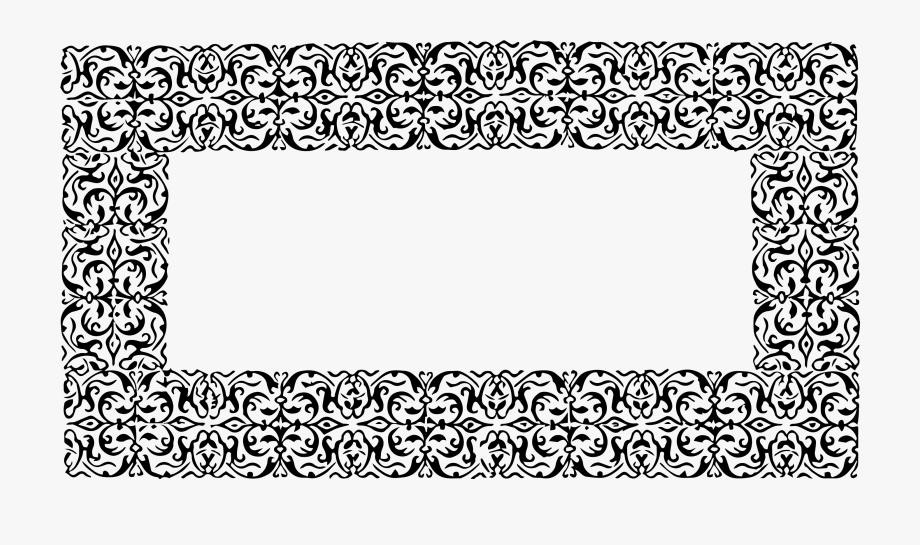 Black Ornate Frame Png Baroque Frame Download Black.