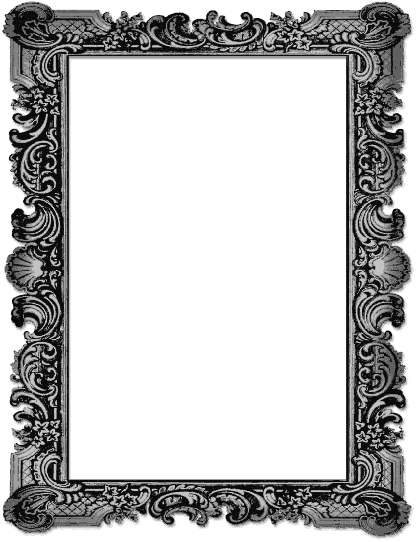 Black Picture Frame Png (+).