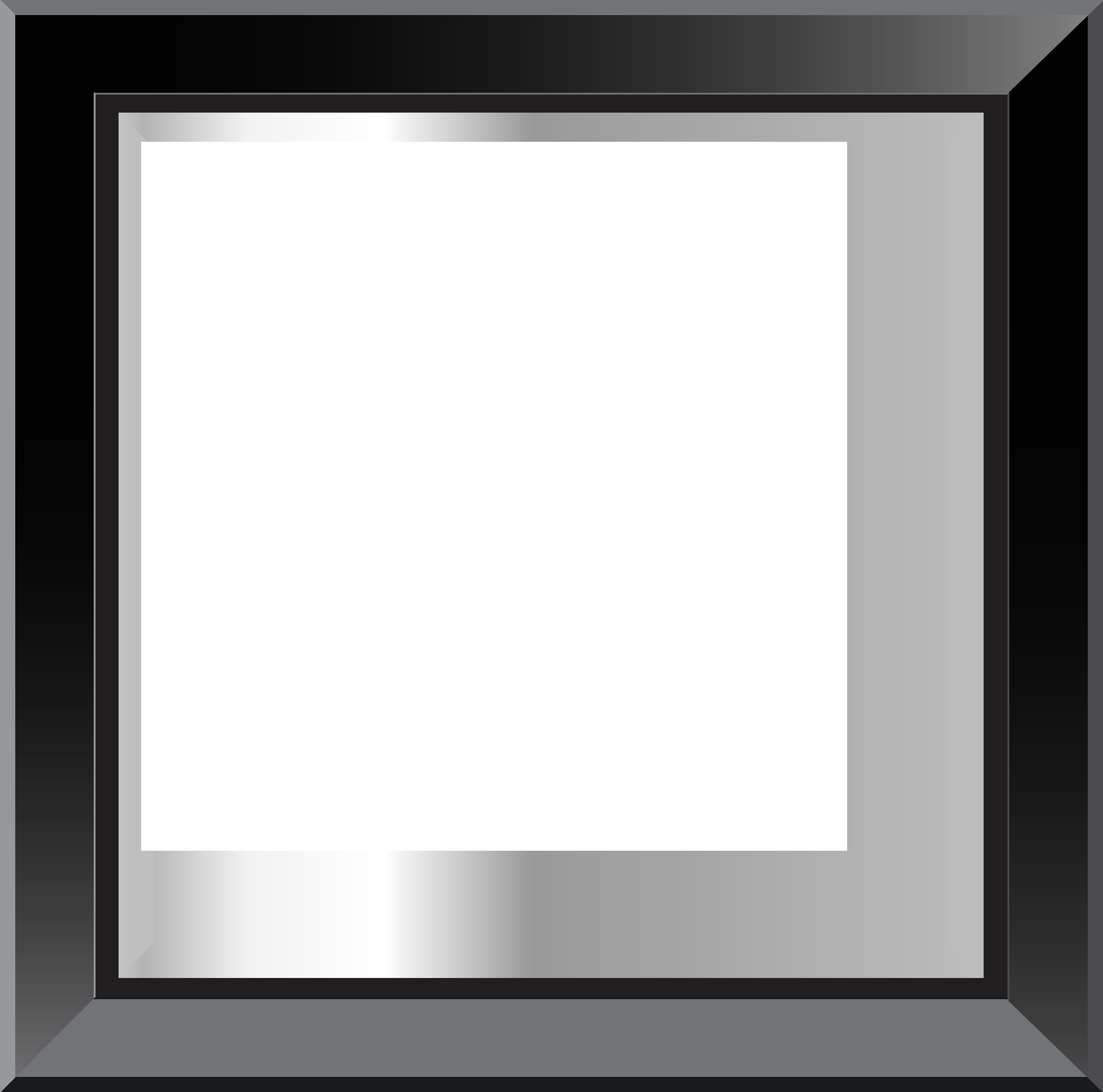 Black Classis Transparent PNG Frame.