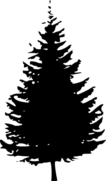 Black pine tree clipart.