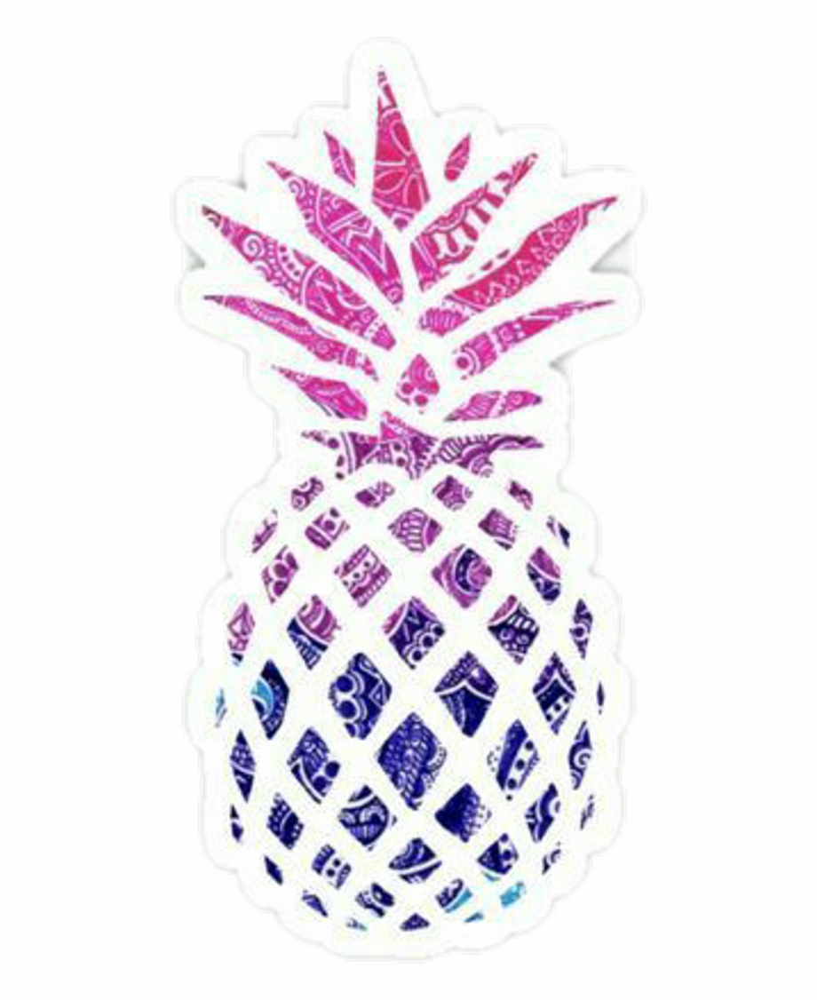 Pia Png Transparent Background Printable Pineapple Black And.