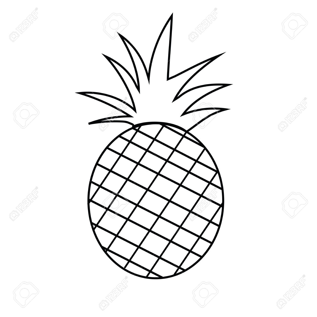 3663 Pineapple free clipart.
